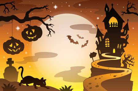 Halloween topic background Vector