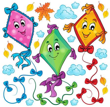 Kites theme image Vector