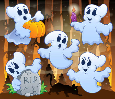 Ghost topic image 3 - eps10 vector illustration  Illustration