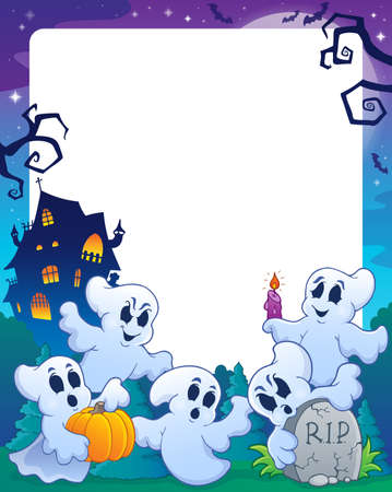 Halloween theme frame   Vector