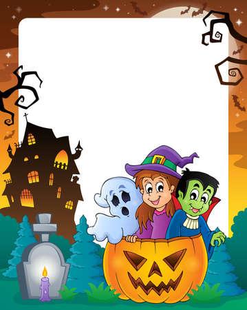 haunt: Halloween theme frame