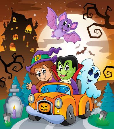 haunt: Halloween topic scene