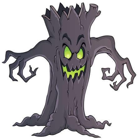 不気味な木のテーマ イメージ  イラスト・ベクター素材