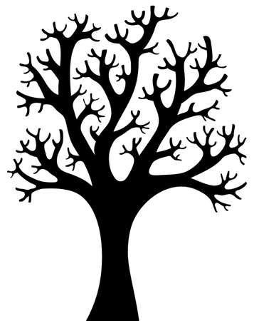 leafless: Tree shaped silhouette