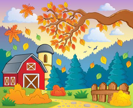 Autumn theme landscape Illustration