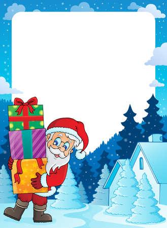 Christmas topic frame