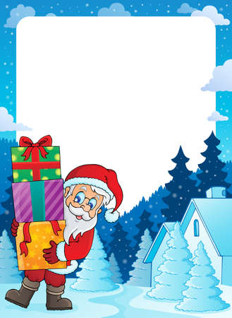 Christmas topic frame  Vector