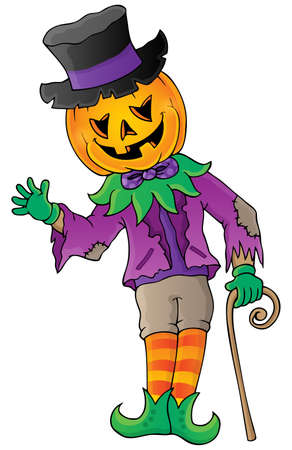 Halloween theme figure image   Vector