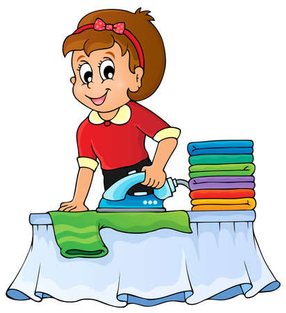 woman ironing: Housewife topic image