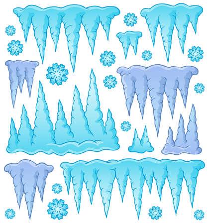 sopel lodu: Sopel motywu obrazu Ilustracja