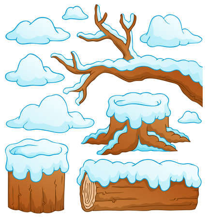 Log theme collection Vector