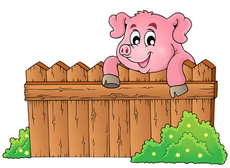 Pig theme image 3 - eps10 vector illustration. Vector