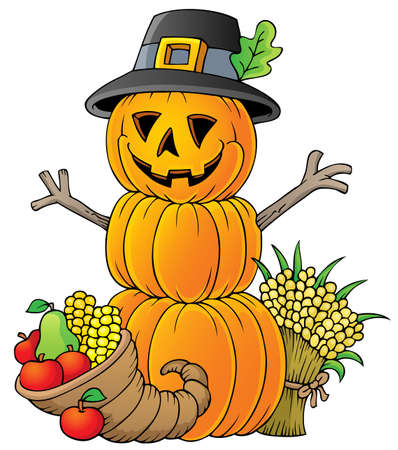 Thanksgiving theme image  Vector