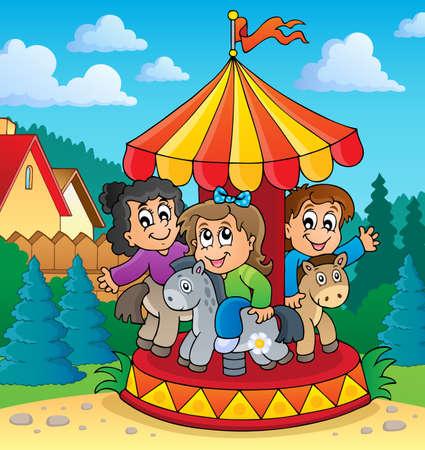 Carrousel thema afbeelding 2 - vectorillustratie eps10