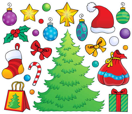 Christmas decoration theme 1 - eps10 vector illustration  Illustration