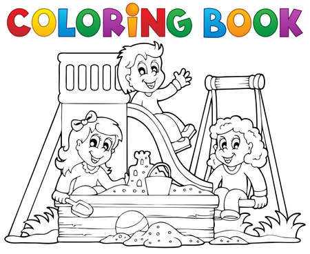 Coloring book playground theme 1 - eps10 vector illustration Imagens - 22867100