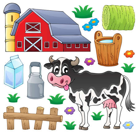 Cow theme collection 1 - eps10 vector illustration  Vector