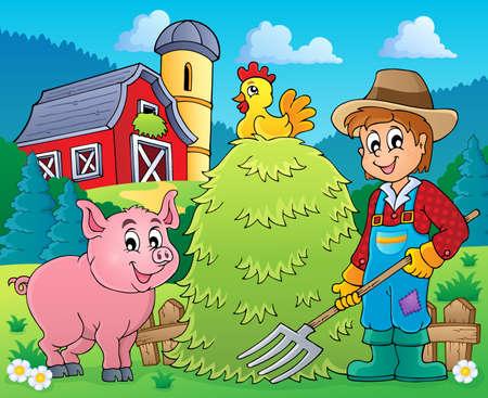 Farmer theme image 2 - eps10 vector illustration