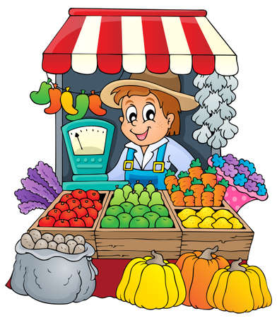 Farmer theme image 3 - eps10 vector illustration  Illustration