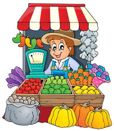 agricultor: Imagen del tema Farmer 3 - eps10 ilustraci�n vectorial Vectores