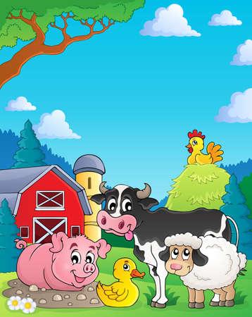 Farm animals theme image 4 - eps10 vector illustration  Vector