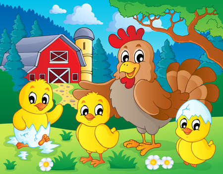 Farm animals theme image 7 - eps10 vector illustration  Vector