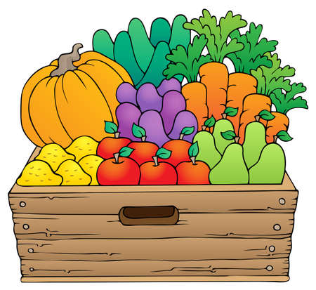 Farm products theme image 1 - eps10 vector illustration  Vector
