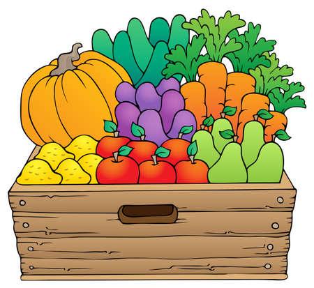 Produits agricoles image Thème 1 - eps10 illustration vectorielle