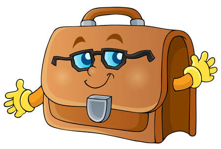 Image with briefcase theme 1 - eps10 vector illustration  Illustration