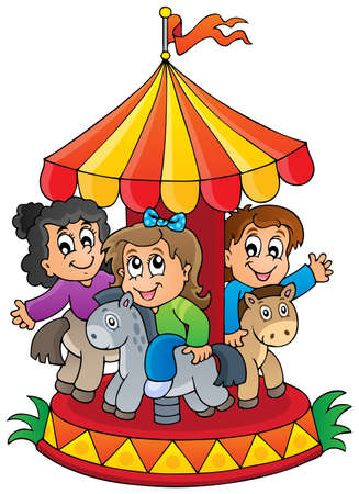 Image with carousel theme 1 - eps10 vector illustration  Vector