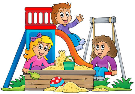 Image with playground theme 1 - eps10 vector illustration