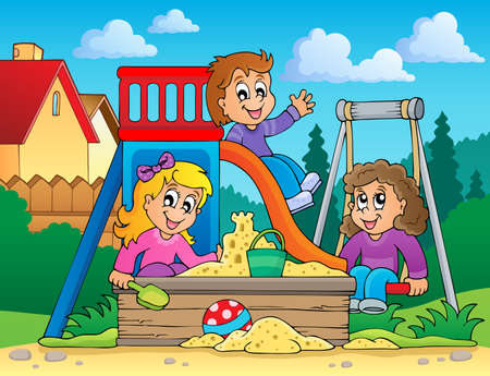 Image with playground theme 2 - eps10 vector illustration  Vector