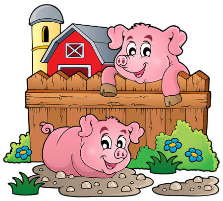 Pig theme image 4 - eps10 vector illustration  Vector