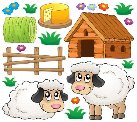 Sheep theme collection 1 - eps10 vector illustration  Illustration