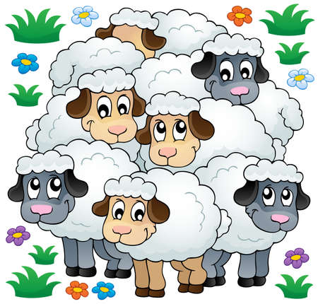 Sheep theme image 3 - eps10 vector illustration  Vector