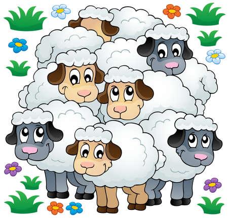 Sheep theme image 3 - eps10 vector illustration