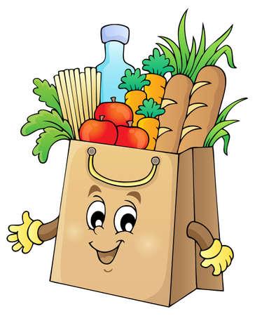 retail shop: Cesta de la imagen el tema bolsa 1 - eps10 ilustraci�n vectorial Vectores
