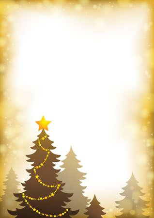クリスマスの木のシルエット  イラスト・ベクター素材