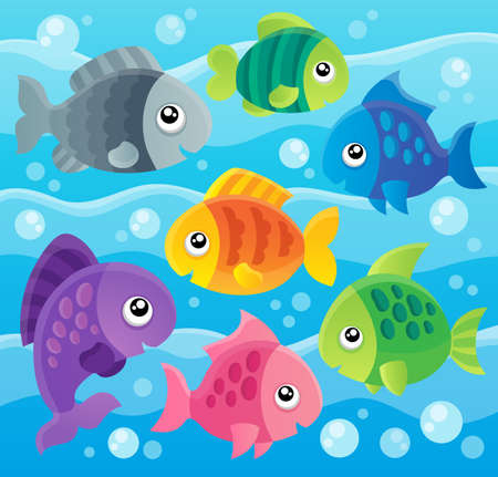 cartoon: Fish theme  Illustration