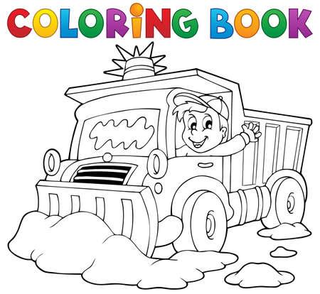 coloring: Coloring book snow plough