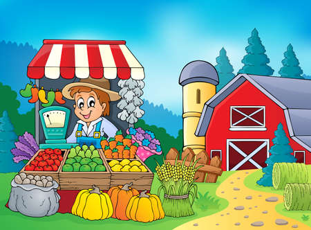 Farmer theme Stock Vector - 23394077
