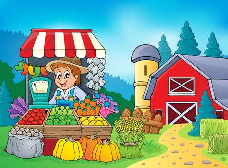 Farmer theme   Illustration