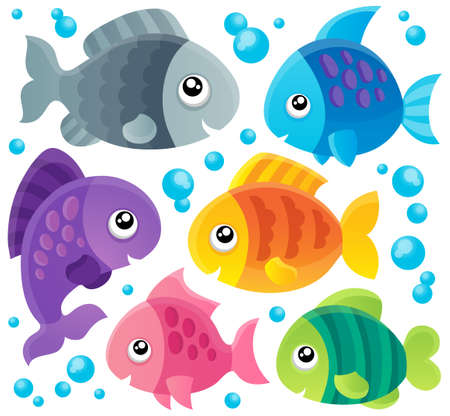 Fish theme collection 1 - eps10 vector illustration  Vector