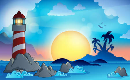 Lighthouse theme Vector