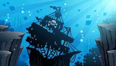 Shipwreck theme Vetores