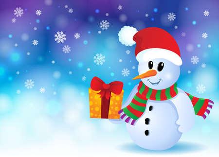 neckscarf: Christmas snowman theme image 3