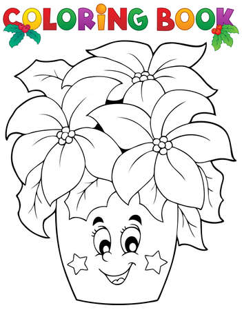 face book: Coloring book Christmas thematics 3 Illustration