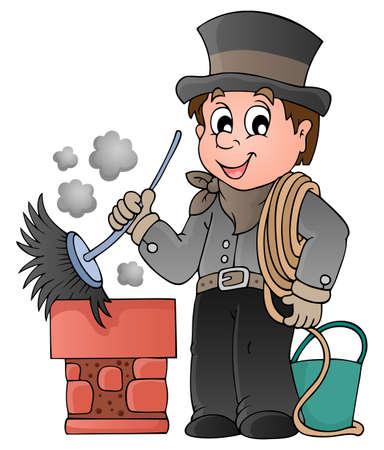 幸せな煙突の掃除人