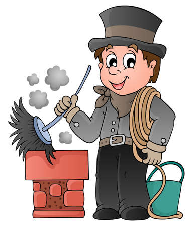 fortune graphics: Happy chimney sweeper