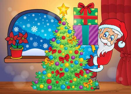 옥내의: 산타 클로스 실내 장면 7